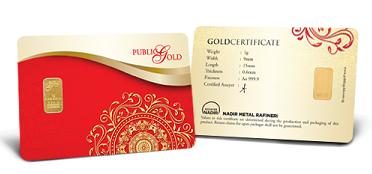 1 gram Gold Bar 999.9 LBMA
