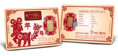 Goat - 1 gram Gold Bar
