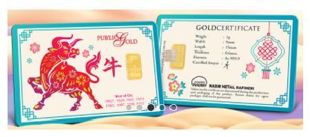 Ox - 1 gram Gold Bar - 2021