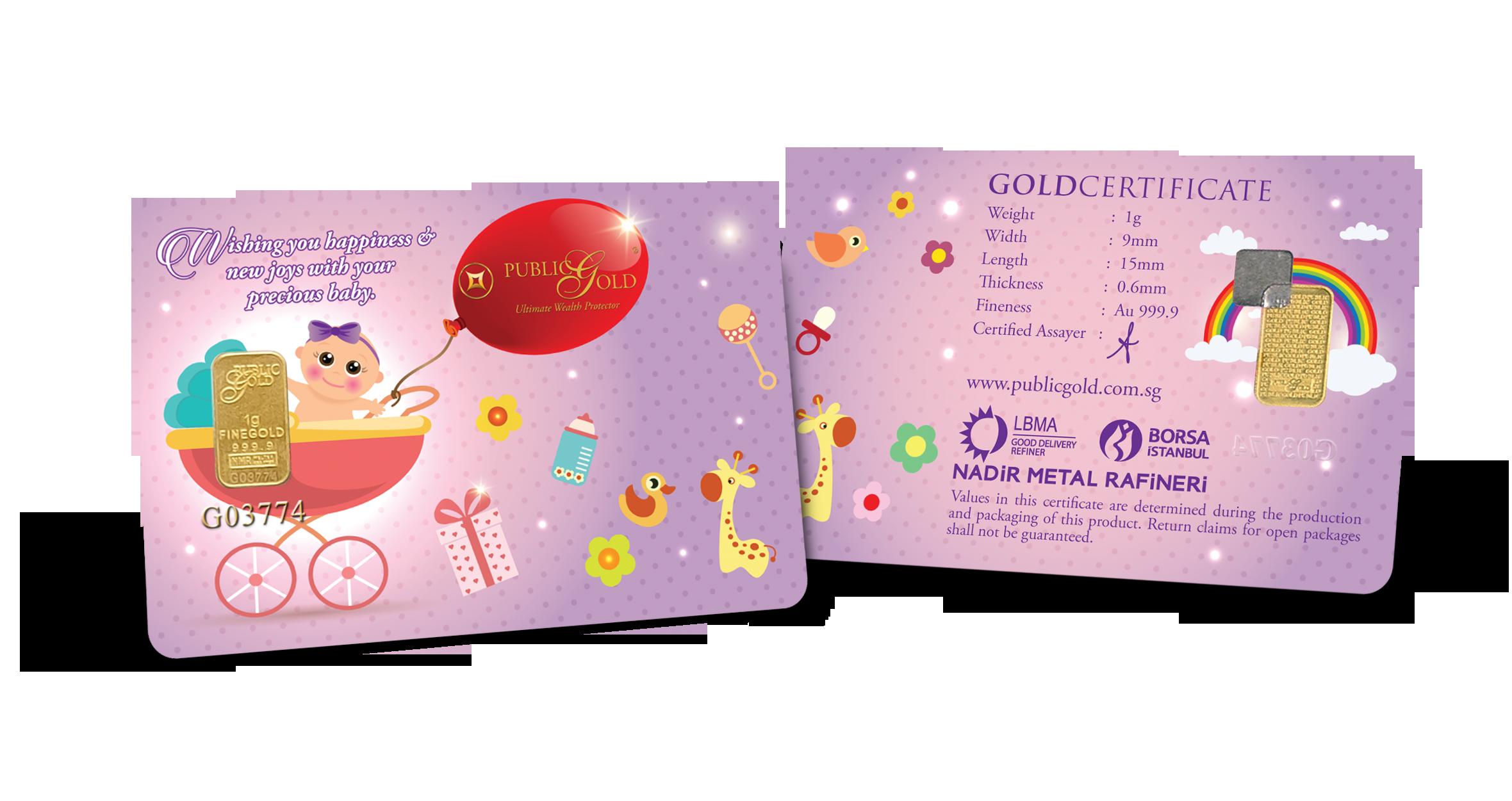 1 gram Gold Bar (1) - New Born