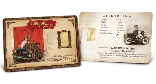 Motorcycle -  0.5 gram Gold Bar