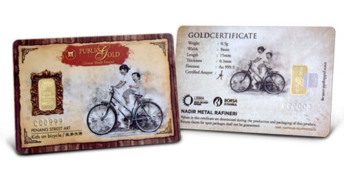 Bicycle -  0.5 gram Gold Bar