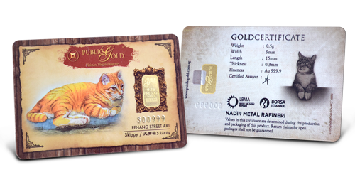 Cat -  0.5 gram Gold Bar