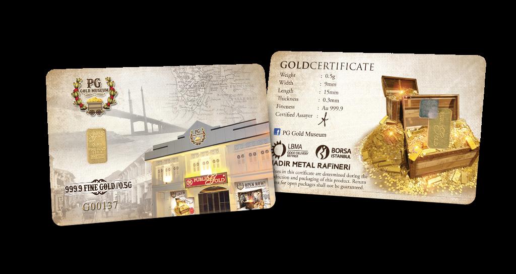 0.5 gram Gold Bar - Museum