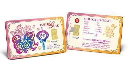 Puppy - 1 gram Gold Bar  (2)